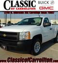 chevrolet silverado 1500 2009 white work truck gasoline 6 cylinders 2 wheel drive 4 speed automatic 75007