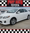 toyota corolla 2012 white sedan s gasoline 4 cylinders front wheel drive automatic 77469