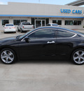honda accord 2011 black coupe ex l v6 gasoline 6 cylinders front wheel drive automatic 75034