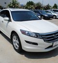 honda accord crosstour 2010 white wagon ex l gasoline 6 cylinders front wheel drive automatic 75034