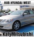 hyundai genesis 2012 gray sedan gasoline 6 cylinders rear wheel drive autostick 77094