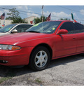 oldsmobile alero 2002 red sedan gl1 gasoline 6 cylinders front wheel drive automatic with overdrive 77020