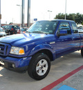 ford ranger 2006 blue sport 6 cylinders rear wheel drive automatic 75067