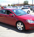 chevrolet malibu 2009 red sedan lt2 gasoline 6 cylinders front wheel drive automatic 79936