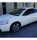 pontiac g6 2008 white sedan gt gasoline 6 cylinders front wheel drive automatic 78744