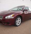 nissan maxima 2012 dk  red sedan 3 5 s gasoline 6 cylinders front wheel drive cont  variable trans  75150