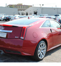 cadillac cts v 2012 red coupe gasoline 8 cylinders rear wheel drive automatic 77074