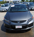 honda civic 2012 dk  gray coupe ex gasoline 4 cylinders front wheel drive automatic 75034