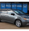 honda odyssey 2012 dk  gray van touring elite gasoline 6 cylinders front wheel drive automatic with overdrive 77034