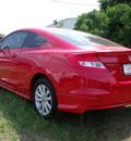 honda civic 2012 red coupe ex gasoline 4 cylinders front wheel drive automatic 75606