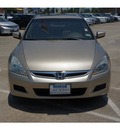 honda accord 2006 beige sedan ex v 6 gasoline 6 cylinders front wheel drive automatic 77566