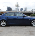 bmw 535i 2008 dk  blue sedan gasoline 6 cylinders rear wheel drive automatic 77002