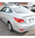 hyundai accent 2013 silver sedan gls gasoline 4 cylinders front wheel drive automatic 78550