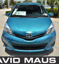 toyota yaris 2012 teal gasoline 4 cylinders front wheel drive automatic 32771