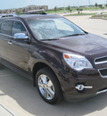 chevrolet equinox 2011 brown ltz flex fuel 6 cylinders front wheel drive automatic 77578