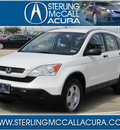 honda cr v 2009 white suv lx gasoline 4 cylinders front wheel drive automatic with overdrive 77074