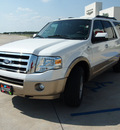 ford expedition el 2012 white suv king ranch flex fuel 8 cylinders 4 wheel drive 6 speed automatic 76230