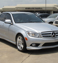 mercedes benz c class 2009 silver sedan c350 sport gasoline 6 cylinders rear wheel drive shiftable automatic 77074
