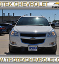 chevrolet traverse 2012 white ls gasoline 6 cylinders front wheel drive automatic 78521