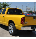 dodge ram 1500 2007 yellow pickup truck lonestar edition flex fuel 8 cylinders rear wheel drive automatic 78233