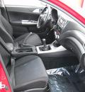 subaru impreza wrx 2009 red sedan gasoline 4 cylinders all whee drive standard 79925