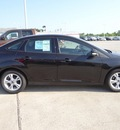 ford focus 2013 black sedan se flex fuel 4 cylinders front wheel drive 6 speed automatic 77388