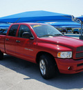 dodge ram pickup 1500 2005 red pickup truck slt gasoline 8 cylinders rear wheel drive automatic 76210