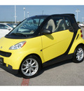 smart fortwo 2008 yellow passion cabrio gasoline 3 cylinders rear wheel drive automatic 78626