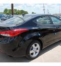hyundai elantra 2013 black sedan gls gasoline 4 cylinders front wheel drive autostick 77065