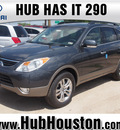 hyundai veracruz 2012 gray wagon limited gasoline 6 cylinders front wheel drive 6 speed automatic 77065