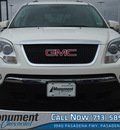 gmc acadia 2008 white suv slt 1 gasoline 6 cylinders front wheel drive 6 speed automatic 77503
