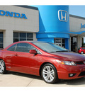 honda civic 2007 red coupe si gasoline 4 cylinders front wheel drive 6 speed manual 77065