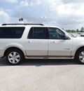 ford expedition el 2008 white suv eddie bauer gasoline 8 cylinders 2 wheel drive automatic 77388