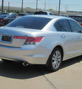 honda accord 2011 silver sedan ex l v6 gasoline 6 cylinders front wheel drive automatic with overdrive 77074
