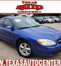 ford taurus 2003 blue sedan se gasoline 6 cylinders front wheel drive automatic 78666