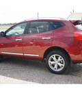 nissan rogue 2011 red sv gasoline 4 cylinders front wheel drive automatic 76543