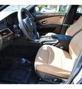 bmw 5 series 2010 blue sedan 550i gasoline 8 cylinders rear wheel drive automatic 77002