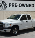 dodge ram 1500 2008 white pickup truck sxt gasoline 6 cylinders rear wheel drive automatic with overdrive 76011