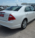 ford fusion 2012 white sedan sel gasoline 4 cylinders front wheel drive automatic 76234