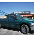 dodge ram 1500 2003 green pickup truck st gasoline 6 cylinders rear wheel drive automatic 78654