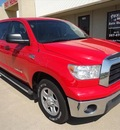 toyota tundra 2008 red pickup truck grade 8 cylinders 5 speed automatic 76108