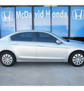 honda accord 2010 silver sedan lx gasoline 4 cylinders front wheel drive automatic 77034
