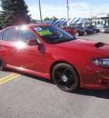 subaru impreza wrx 2008 red sedan premium gasoline 4 cylinders all whee drive manual 13502