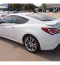 hyundai genesis coupe 2013 white coupe 3 8 track a t gasoline 6 cylinders rear wheel drive automatic 77074