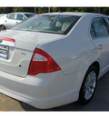 ford fusion 2012 white sedan sel gasoline 4 cylinders front wheel drive 6 speed automatic 77338