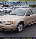 pontiac grand am 2003 beige sedan se1 gasoline 6 cylinders front wheel drive automatic 98632