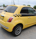 fiat 500 2012 yellow hatchback lounge gasoline 4 cylinders front wheel drive automatic 76108