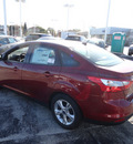 ford focus 2013 red sedan se flex fuel 4 cylinders front wheel drive automatic with overdrive 60546