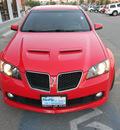 pontiac g8 2009 red sedan gt gasoline 8 cylinders rear wheel drive automatic 79936