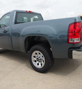 gmc sierra 1500 2012 blue work truck gasoline 6 cylinders 2 wheel drive automatic 77521